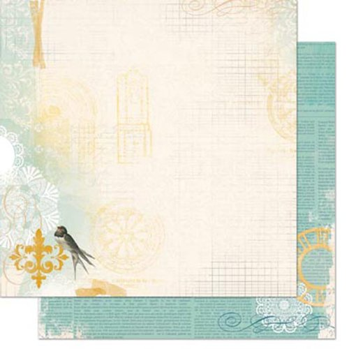 Bo Bunny - The Avenues Collection - 12 x 12 Double Sided Paper - The Avenues