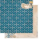 Bo Bunny - The Avenues Collection - 12 x 12 Double Sided Paper - Courtyard