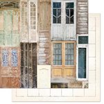Bo Bunny - The Avenues Collection - 12 x 12 Double Sided Paper - Doors