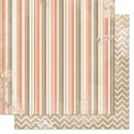 Bo Bunny - The Avenues Collection - 12 x 12 Double Sided Paper - Stripe