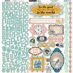 BoBunny - The Avenues Collection - 12 x 12 Cardstock Stickers - Combo