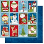 Bo Bunny - Elf Magic Collection - Christmas - 12 x 12 Double Sided Paper - Characters