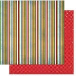 Bo Bunny - Elf Magic Collection - Christmas - 12 x 12 Double Sided Paper - Stripe