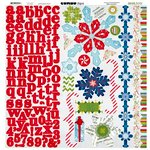 Bo Bunny - Elf Magic Collection - Christmas - 12 x 12 Cardstock Stickers - Combo