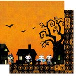Bo Bunny - Fright Delight Collection - Halloween - 12 x 12 Double Sided Paper - Fright Delight