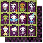 Bo Bunny - Fright Delight Collection - Halloween - 12 x 12 Double Sided Paper - Costume