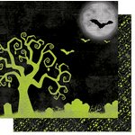 Bo Bunny - Fright Delight Collection - Halloween - 12 x 12 Double Sided Paper - Haunted