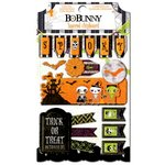 Bo Bunny - Fright Delight Collection - Halloween - Layered Chipboard Stickers with Glitter and Jewel Accents