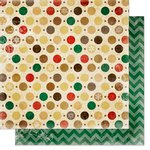 Bo Bunny - Silver and Gold Collection - Christmas - 12 x 12 Double Sided Paper - Dots