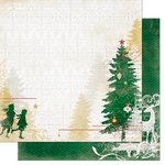 Bo Bunny - Silver and Gold Collection - Christmas - 12 x 12 Double Sided Paper - Festivities