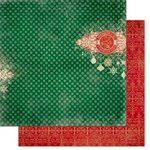 Bo Bunny - Silver and Gold Collection - Christmas - 12 x 12 Double Sided Paper - The List