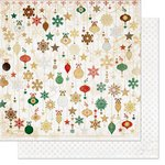 Bo Bunny - Silver and Gold Collection - Christmas - 12 x 12 Double Sided Paper - Ornaments