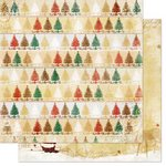 Bo Bunny - Silver and Gold Collection - Christmas - 12 x 12 Double Sided Paper - Trees