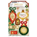 Bo Bunny - Silver and Gold Collection - Christmas - 3 Dimensional Stickers