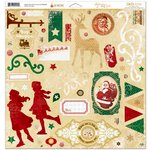 Bo Bunny - Silver and Gold Collection - Christmas - 12 x 12 Chipboard Stickers