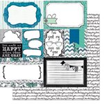 Bo Bunny - Zip-a-dee-doodle Collection - 12 x 12 Double Sided Paper - Collage