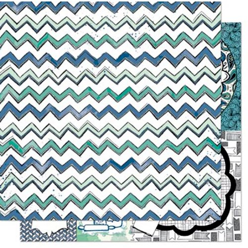 Bo Bunny - Zip-a-dee-doodle Collection - 12 x 12 Double Sided Paper - Zig Zag