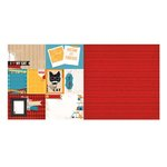 BoBunny - Happy Tails Collection - 12 x 12 Double Sided Paper - Cat Nap