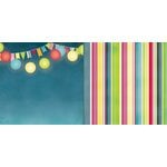 Bo Bunny - Lemonade Stand Collection - 12 x 12 Double Sided Paper - Carnival