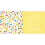BoBunny - Lemonade Stand Collection - 12 x 12 Double Sided Paper - Cream Pop