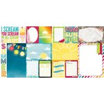 Bo Bunny - Lemonade Stand Collection - 12 x 12 Double Sided Paper - Staycation