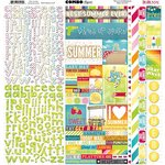 BoBunny - Lemonade Stand Collection - 12 x 12 Cardstock Stickers - Combo
