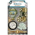 Bo Bunny - Somewhere In Time Collection - Layered Chipboard Stickers