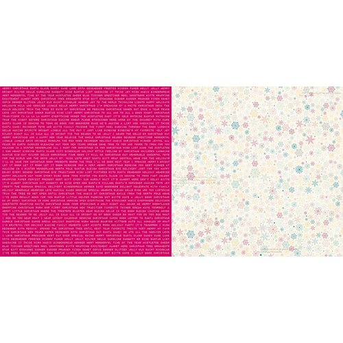 Bo Bunny - Candy Cane Lane Collection - Christmas - 12 x 12 Double Sided Paper - Naughty or Nice