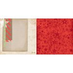Bo Bunny - Christmas Collage Collection - 12 x 12 Double Sided Paper - Christmas Collage