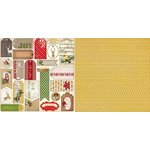 Bo Bunny - Christmas Collage Collection - 12 x 12 Double Sided Paper - Glad Tidings