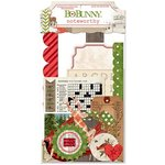 Bo Bunny - Christmas Collage Collection - Noteworthy Journaling Cards
