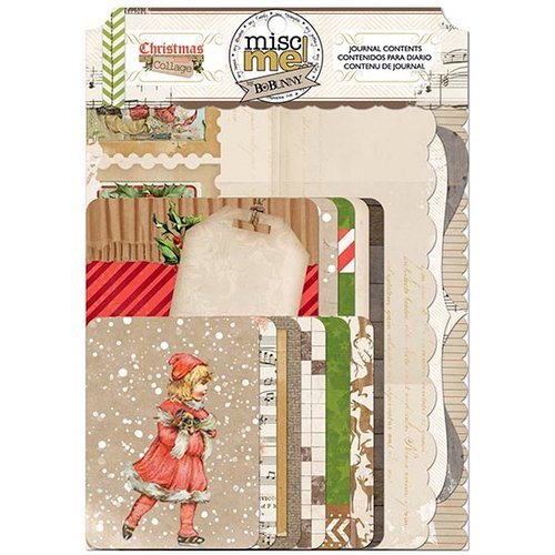 Bo Bunny - Christmas Collage Collection - Misc Me - Journal Contents