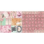 Bo Bunny - Madeleine Collection - 12 x 12 Double Sided Paper - Happiness