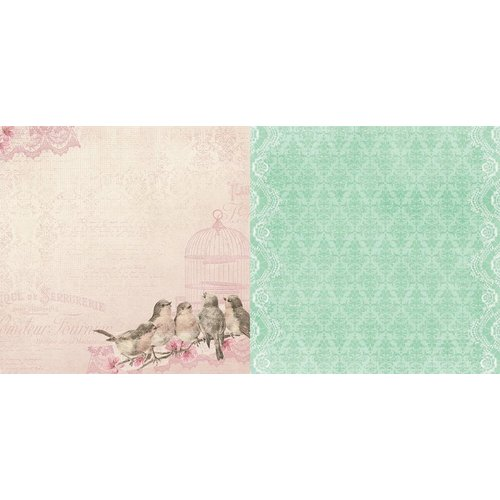 BoBunny - Madeleine Collection - 12 x 12 Double Sided Paper - Songbirds