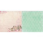 Bo Bunny - Madeleine Collection - 12 x 12 Double Sided Paper - Songbirds
