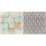 Bo Bunny - Madeleine Collection - 12 x 12 Double Sided Paper - Tiles
