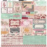BoBunny - Madeleine Collection - 12 x 12 Cardstock Stickers - Combo