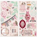 Bo Bunny - Madeleine Collection - Chipboard Stickers
