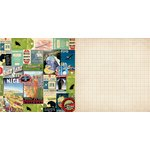 Bo Bunny - Souvenir Collection - 12 x 12 Double Sided Paper - Destination