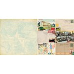 Bo Bunny - Souvenir Collection - 12 x 12 Double Sided Paper - Sightseeing