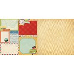Bo Bunny - Souvenir Collection - 12 x 12 Double Sided Paper - Wanderlust