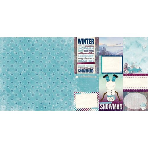 Bo Bunny - Altitude Collection - Christmas - 12 x 12 Double Sided Paper - Flurry