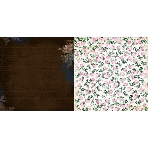 BoBunny - Rose Cafe Collection - 12 x 12 Double Sided Paper - Espresso