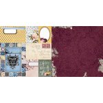 Bo Bunny - Rose Cafe Collection - 12 x 12 Double Sided Paper - French Roast