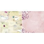 Bo Bunny - Rose Cafe Collection - 12 x 12 Double Sided Paper - Post