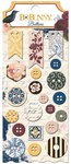 BoBunny - Rose Cafe Collection - Buttons