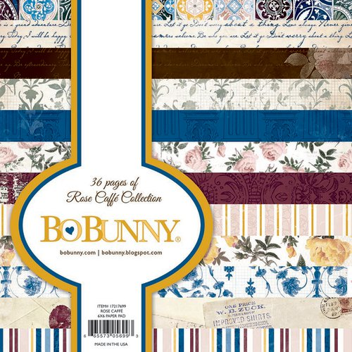 BoBunny - Rose Cafe Collection - 6 x 6 Paper Pad