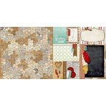 Bo Bunny - Star-Crossed Collection - 12 x 12 Double Sided Paper - Honeycomb