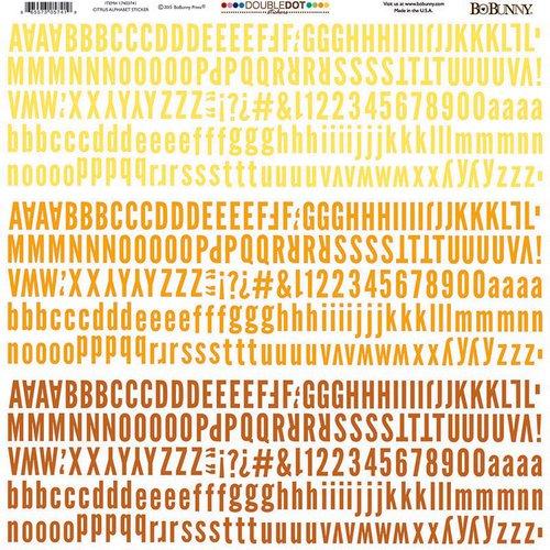 BoBunny - Carnival Collection - 12 x 12 Cardstock Stickers - Double Dot - Citrus - Alphabet