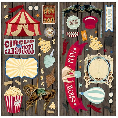 BoBunny - Carnival Collection - Chipboard Stickers